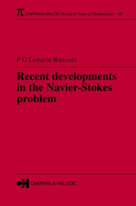 Recent developments in the Navier-Stokes problem book cover