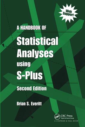 A Handbook of Statistical Analyses Using S-PLUS: 2nd Edition (Paperback) book cover