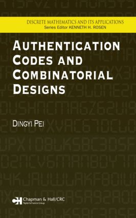 Authentication Codes and Combinatorial Designs: 1st Edition (Hardback) book cover