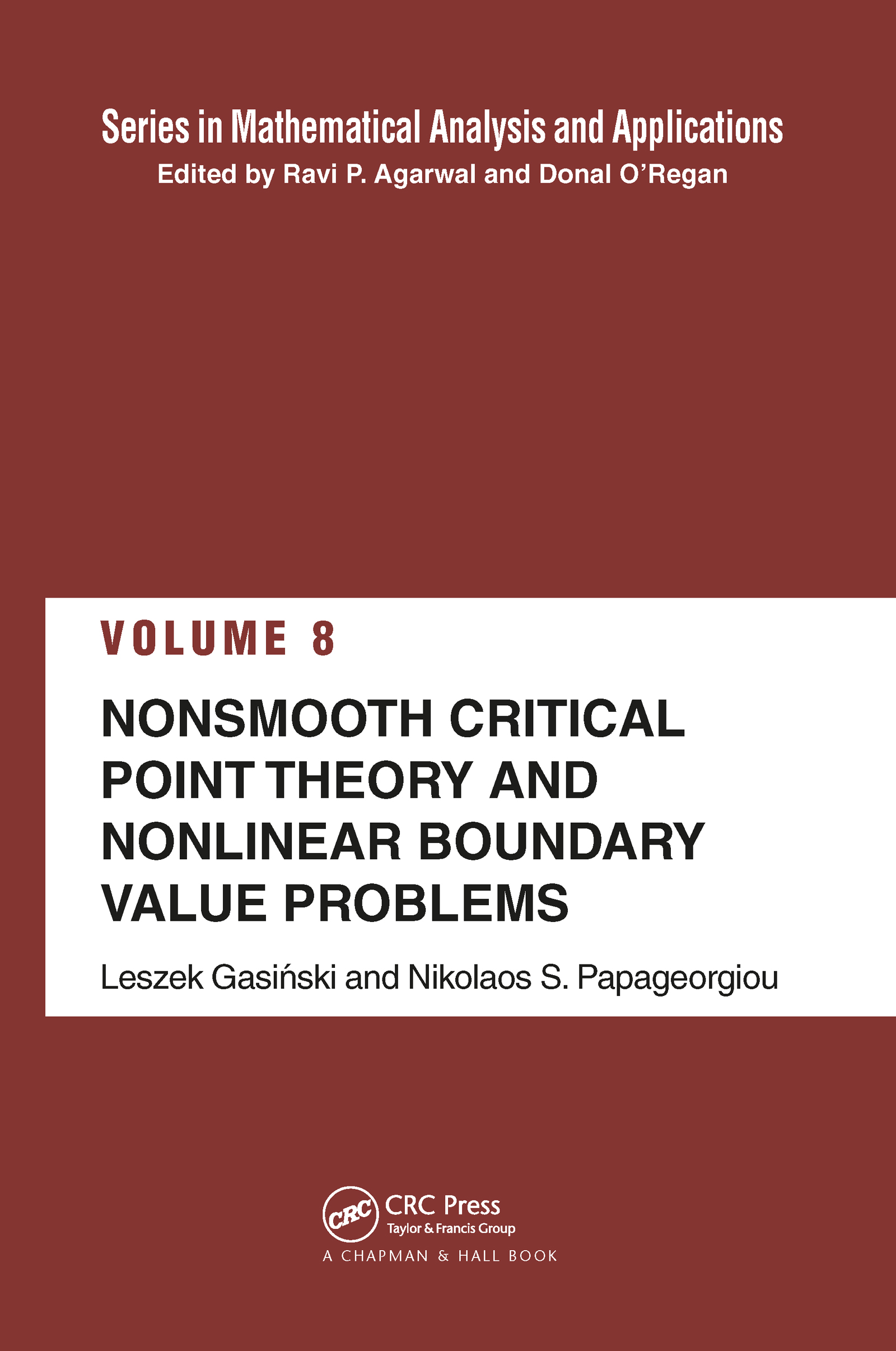 Nonsmooth Critical Point Theory and Nonlinear Boundary Value Problems: 1st Edition (Hardback) book cover