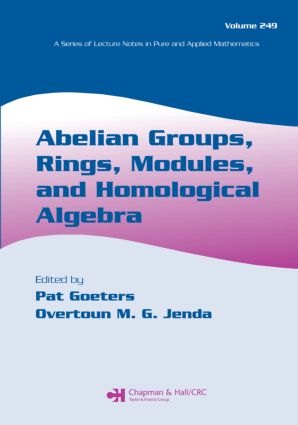 Abelian Groups, Rings, Modules, and Homological Algebra: 1st Edition (Paperback) book cover