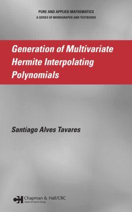 Generation of Multivariate Hermite Interpolating Polynomials: 1st Edition (Hardback) book cover