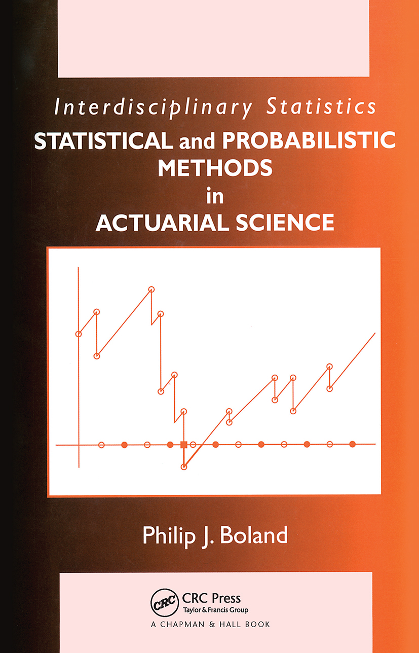 Statistical and Probabilistic Methods in Actuarial Science (Hardback) book cover