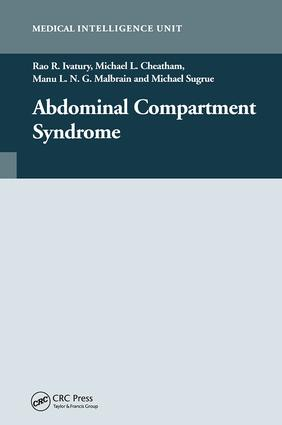 Abdominal Compartment Syndrome: 1st Edition (Hardback) book cover
