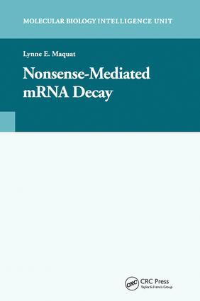 Nonsense-Mediated mRNA Decay: 1st Edition (Paperback) book cover
