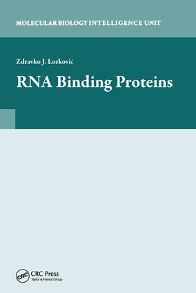 RNA Binding Proteins: 1st Edition (Hardback) book cover