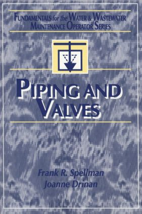 Piping and Valves: 1st Edition (Paperback) book cover