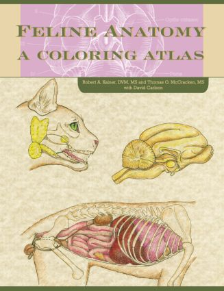 Feline Anatomy: A Coloring Atlas, 1st Edition (Paperback) book cover