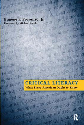 Critical Literacy: What Every American Needs to Know, 1st Edition (Paperback) book cover