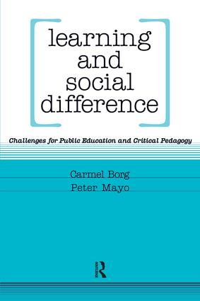Learning and Social Difference: 1st Edition (Paperback) book cover