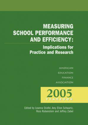 Measuring School Performance & Efficiency book cover