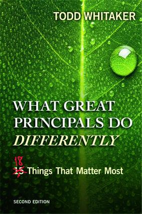 What Great Principals Do Differently: Eighteen Things That Matter Most, 2nd Edition (Paperback) book cover