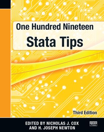 One Hundred Nineteen Stata Tips, Third Edition: 3rd Edition (Paperback) book cover