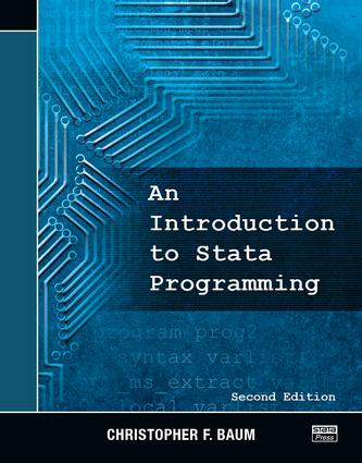 An Introduction to Stata Programming, Second Edition: 2nd Edition (Paperback) book cover