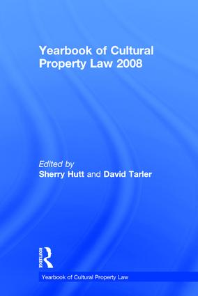 Yearbook of Cultural Property Law 2008: 1st Edition (Hardback) book cover