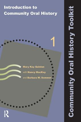 Introduction to Community Oral History: 1st Edition (Paperback) book cover