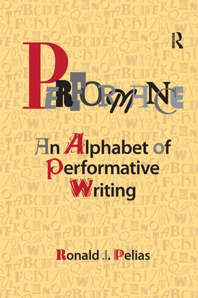 Performance: An Alphabet of Performative Writing book cover