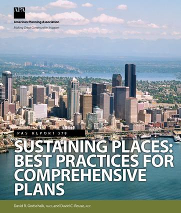 Sustaining Places: Best Practices for Comprehensive Plans, 1st Edition (Paperback) book cover