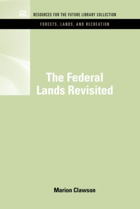 RFF Forests, Lands, and Recreation Set: 1st Edition (Hardback) book cover