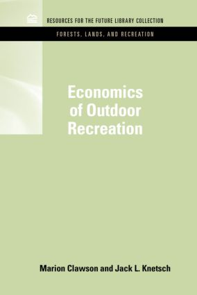 Economics of Outdoor Recreation book cover