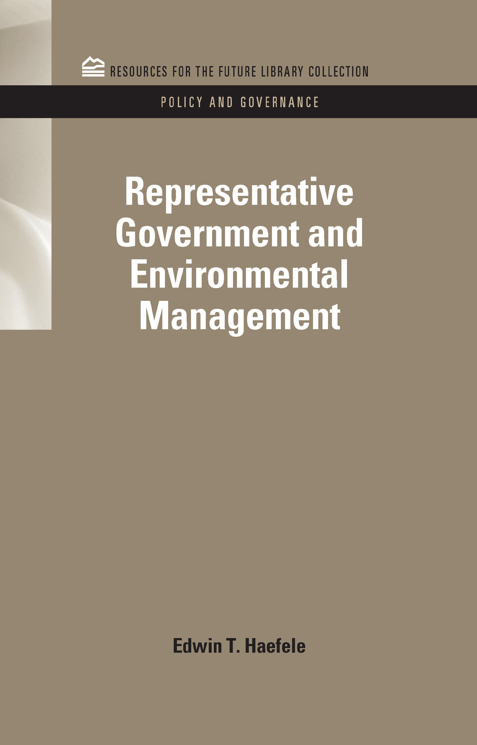 Representative Government and Environmental Management book cover
