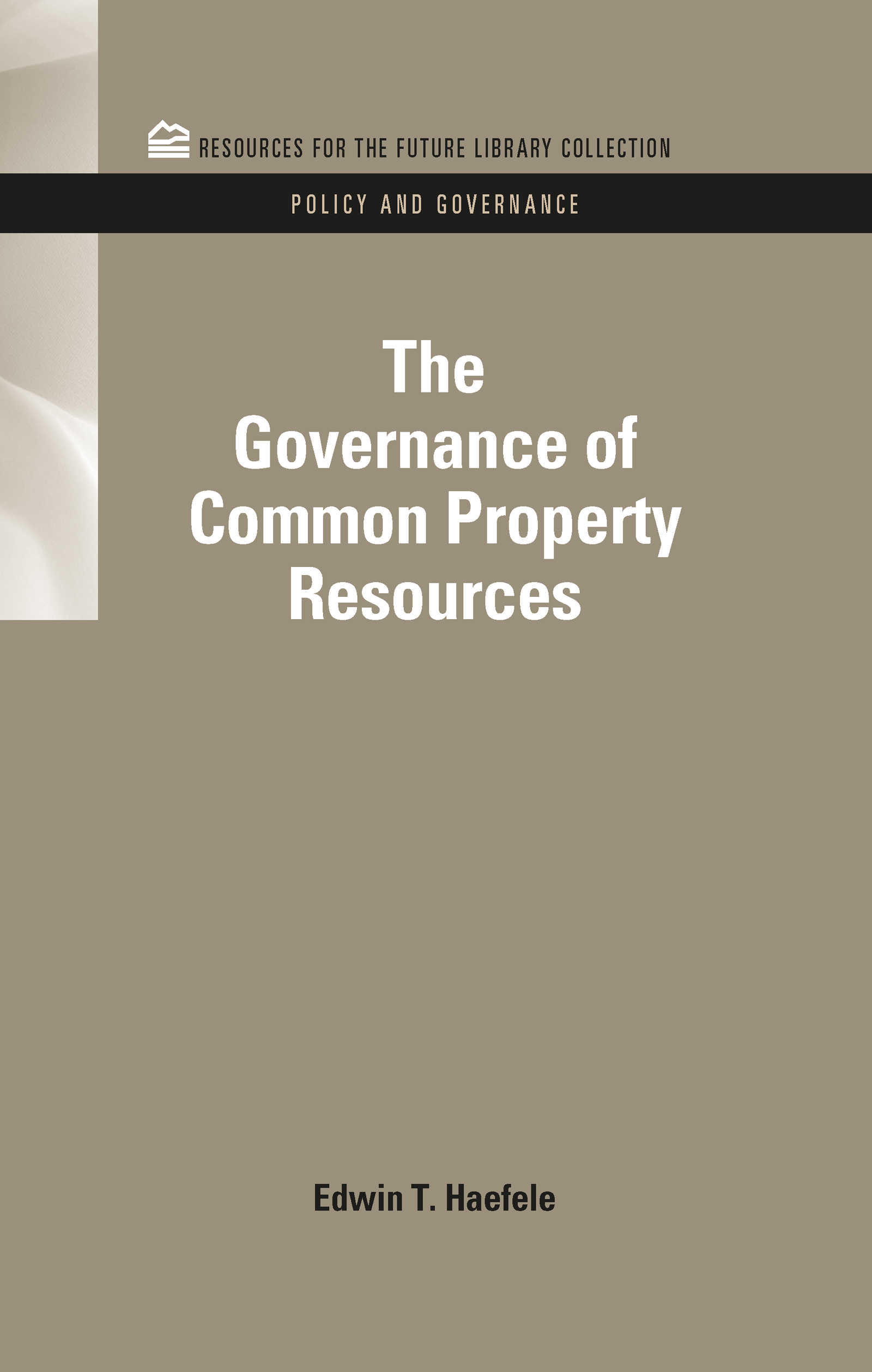 The Governance of Common Property Resources (e-Book) book cover