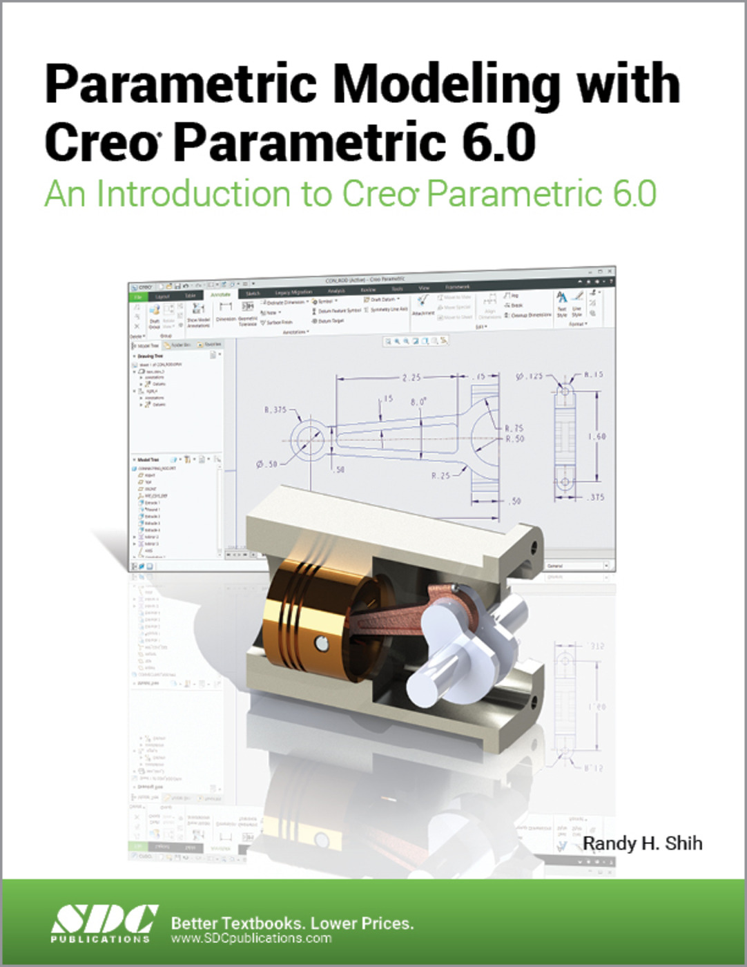 Parametric Modeling with Creo Parametric 6.0: 1st Edition (Paperback) book cover