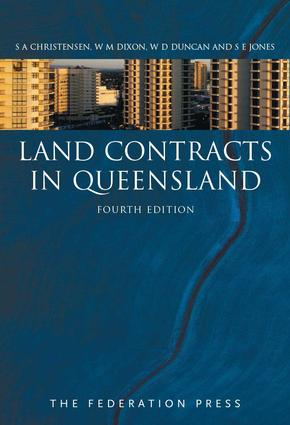 Land Contracts in Queensland: 4th Edition (Paperback) book cover