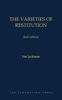 The Varieties of Restitution: 2nd edition book cover