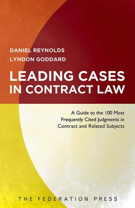 Leading Contract Cases: 1st Edition (Paperback) book cover