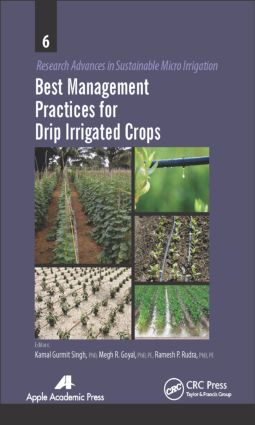 Best Management Practices for Drip Irrigated Crops: 1st Edition (Hardback) book cover