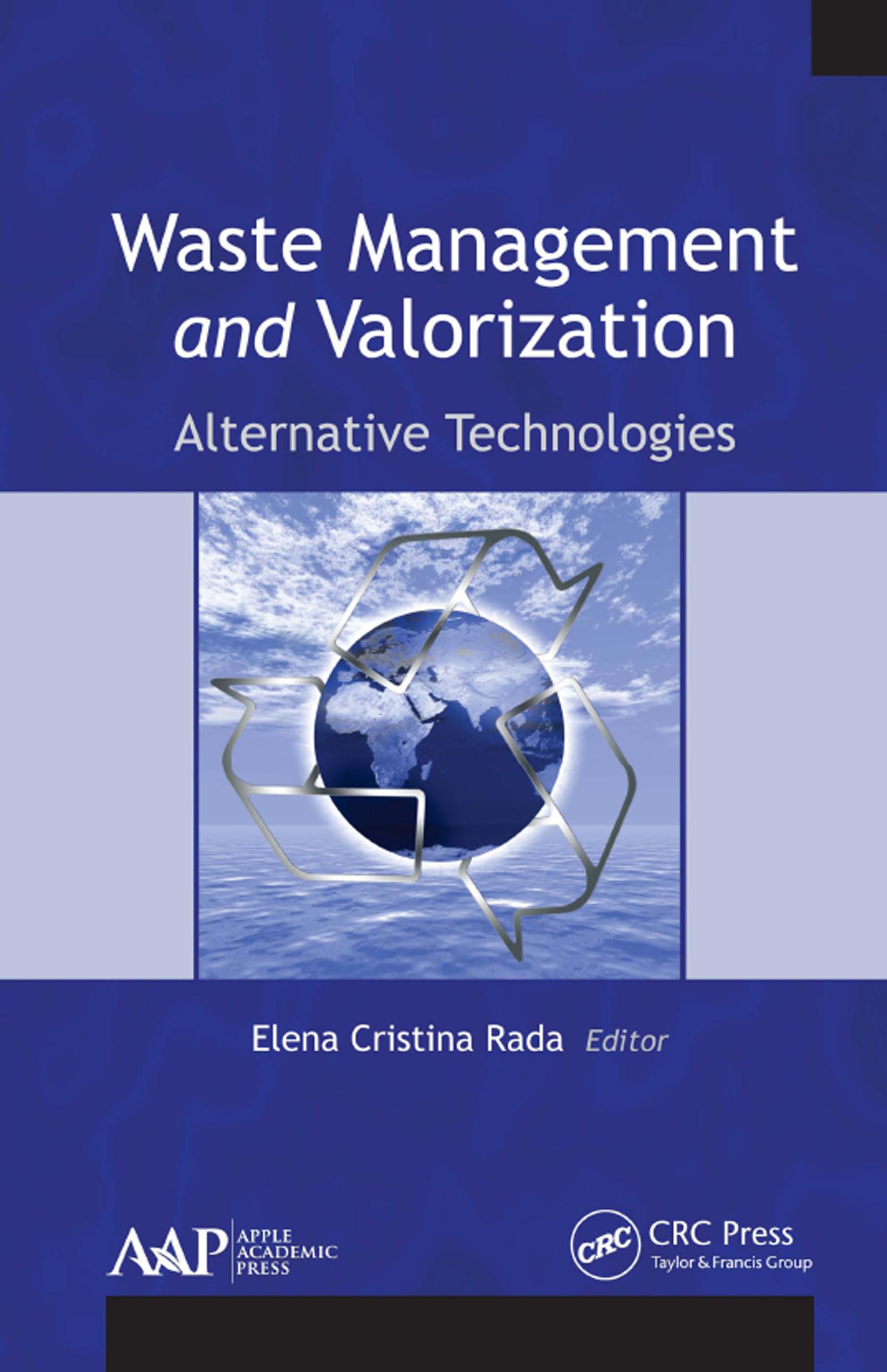 Waste Management and Valorization: Alternative Technologies, 1st Edition (Hardback) book cover