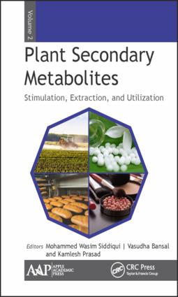 Plant Secondary Metabolites, Volume Two: Stimulation, Extraction, and Utilization, 1st Edition (Hardback) book cover