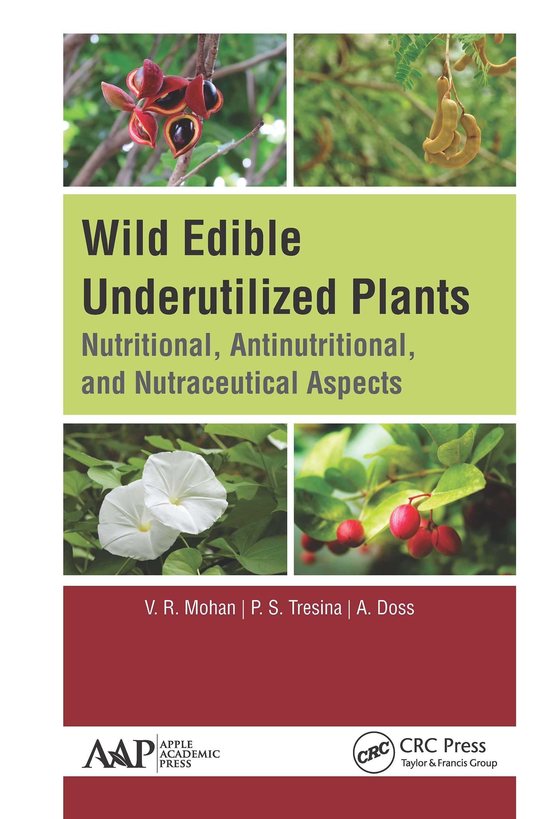 Wild Edible Underutilized Plants: Nutritional, Antinutritional, and Nutraceutical Aspects, 1st Edition (Hardback) book cover