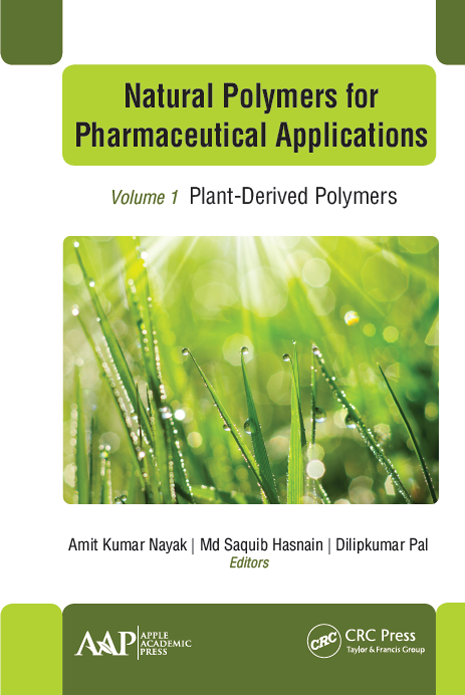 Natural Polymers for Pharmaceutical Applications: Volume 1: Plant-Derived Polymers book cover