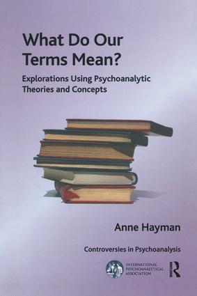 What Do Our Terms Mean?: Explorations Using Psychoanalytic Theories and Concepts, 1st Edition (Paperback) book cover