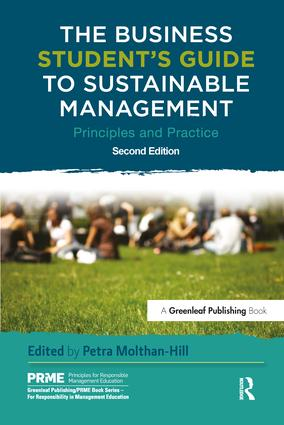 The Business Student's Guide to Sustainable Management: Principles and Practice book cover