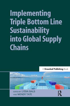 Implementing Triple Bottom Line Sustainability into Global Supply Chains: 1st Edition (Hardback) book cover