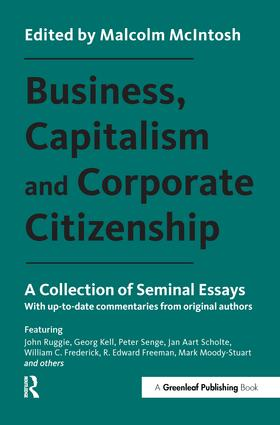 Business, Capitalism and Corporate Citizenship: A Collection of Seminal Essays, 1st Edition (Paperback) book cover