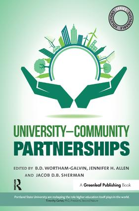 Sustainable Solutions: University–Community Partnerships: 1st Edition (Hardback) book cover