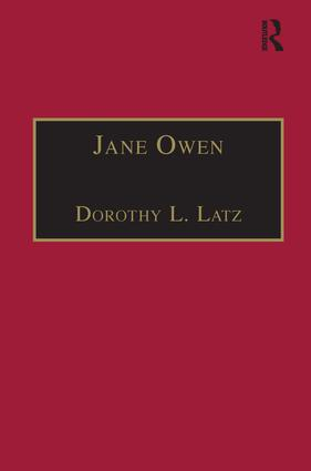 Jane Owen: Printed Writings 1500–1640: Series I, Part Two, Volume 9 book cover