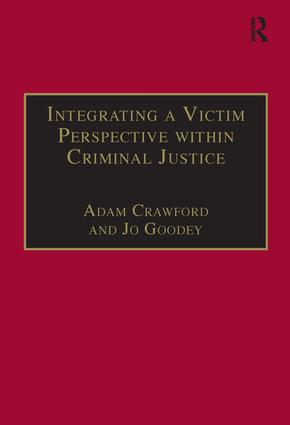 Integrating a Victim Perspective within Criminal Justice: International Debates book cover