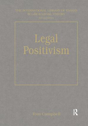 Legal Positivism book cover