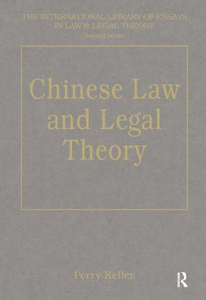 Chinese Law and Legal Theory book cover