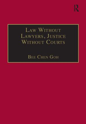 Law Without Lawyers, Justice Without Courts