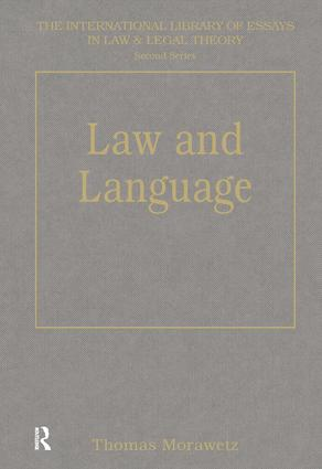Law and Language book cover