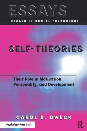 Self-theories: Their Role in Motivation, Personality, and Development (Paperback) book cover