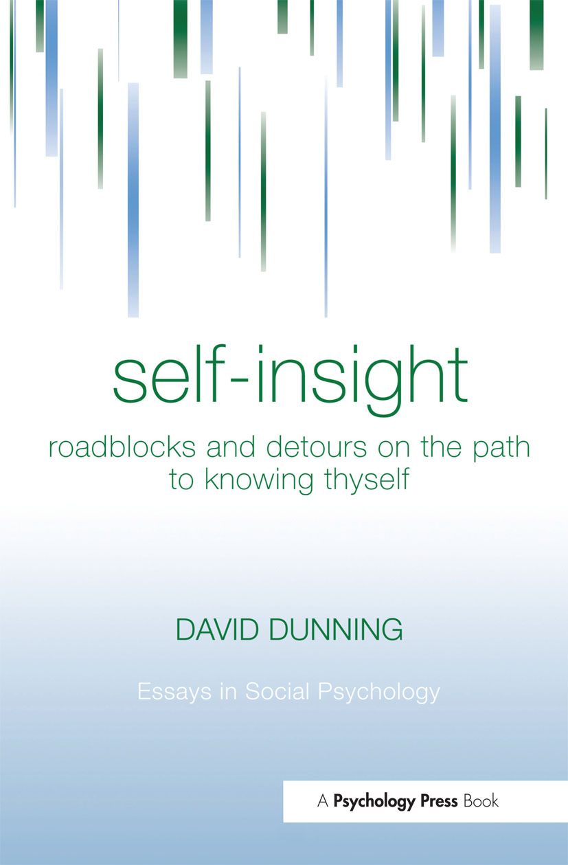 Self-Insight: Roadblocks and Detours on the Path to Knowing Thyself (Hardback) book cover