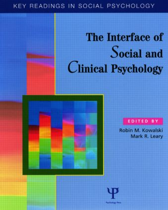 The Interface of Social and Clinical Psychology: Key Readings book cover