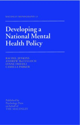 Developing a National Mental Health Policy (Hardback) book cover